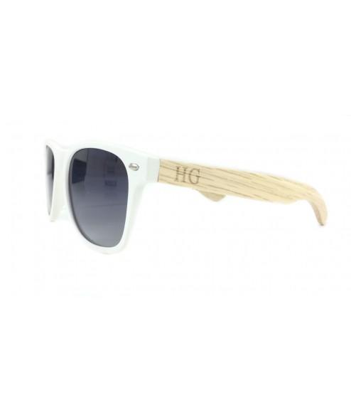 Huxley & Grace Ξύλινα Γυαλιά Ηλίου Ryan 9624 (Λευκό)