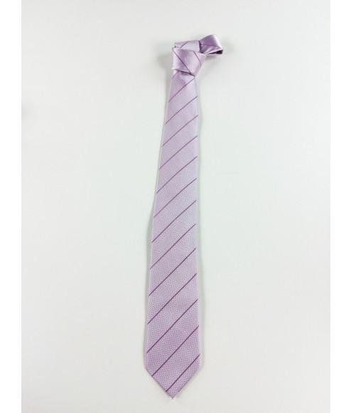 Γραβάτα Aslanis με γεωμετρικά σχέδια ρόζ 80926