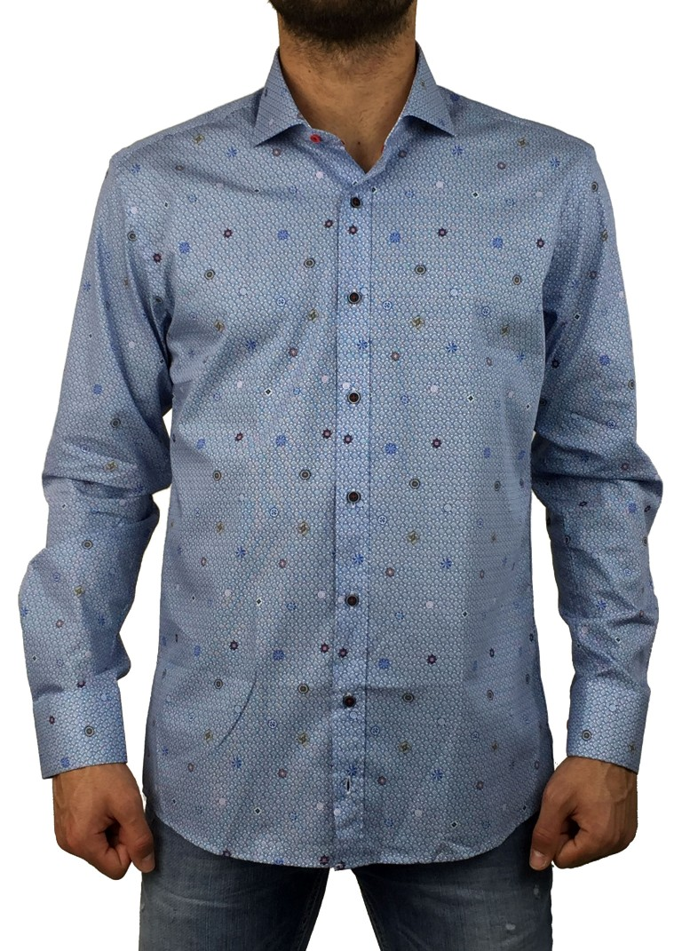 Firenze μπλε πουκάμισο 016 5902