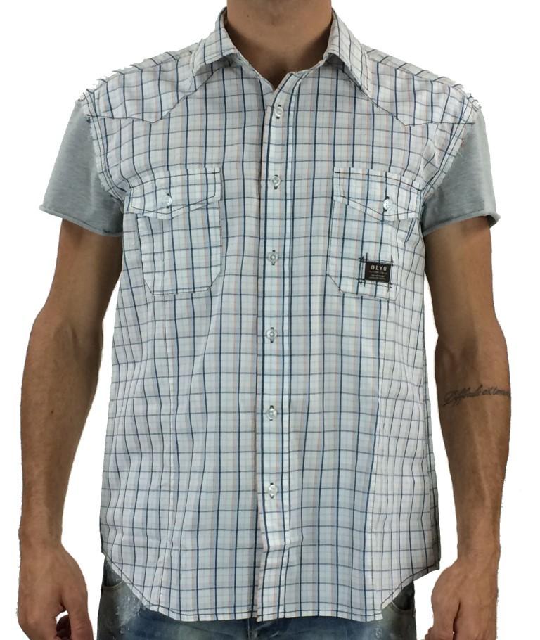 Ανδρικό ελαστικό · Olyo καρό πουκάμισο 1636B (Θαλασσί) a4209f3c8d3
