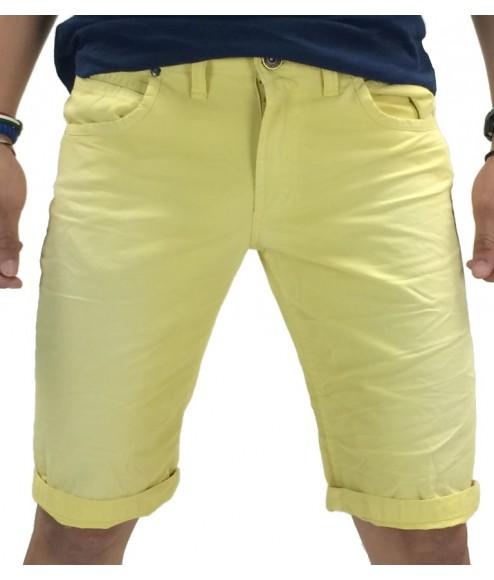 Υφασμάτινη βερμούδα Trial GeremyB (Κίτρινο) ανδρασ   ανδρικα ρουχα   παντελονια   βερμούδες