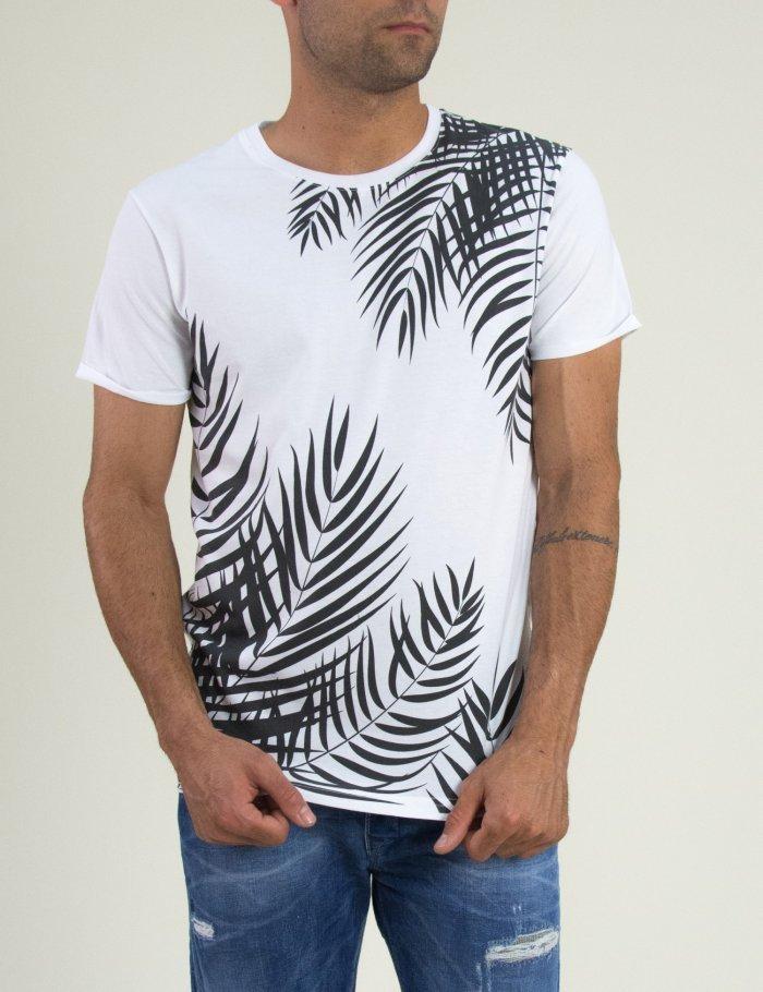 Λευκή μπλούζα με τύπωμα μπροστά