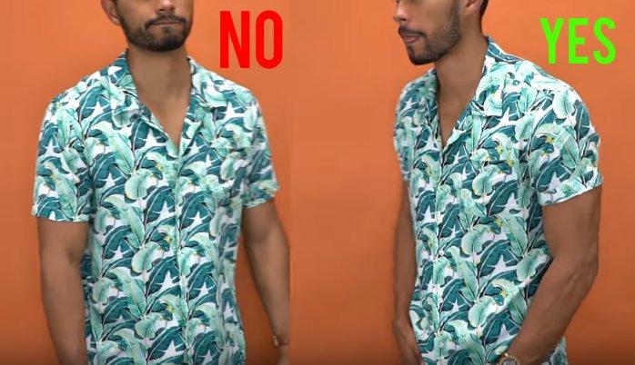 Γύρισε μια στροφή τα μανίκια στο ανδρικό πουκάμισο