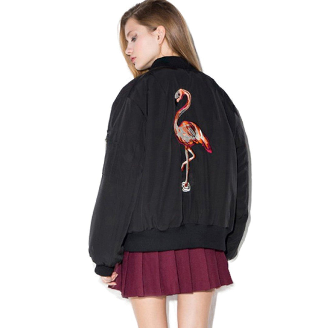 Bomber jacket με σχέδια πίσω