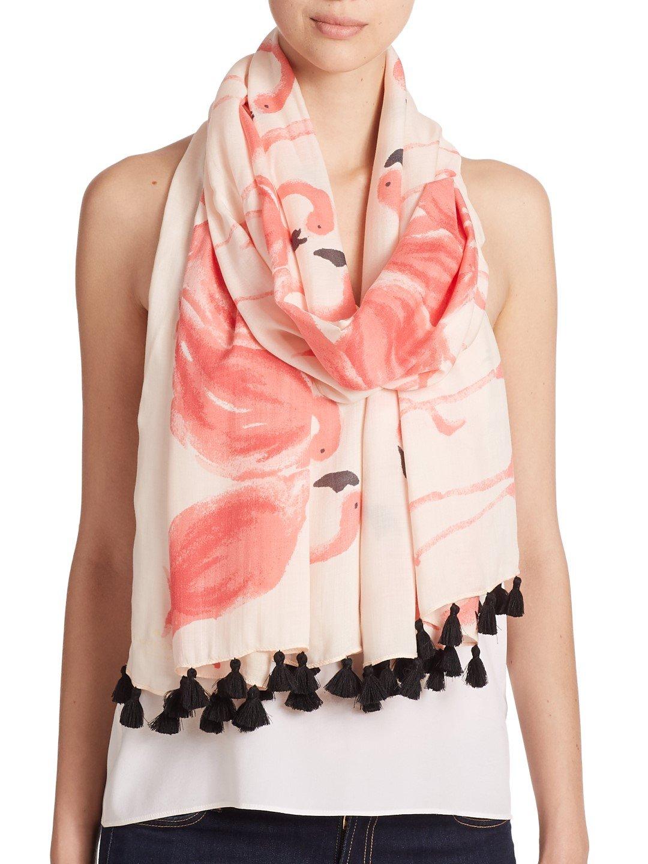 Φουλαρι με σχεδιο ροζ φλαμινγκο