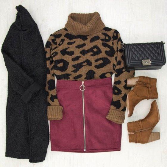 Η απόλυτη μόδα για το φετινό χειμώνα, φούστα με φερμουαρ