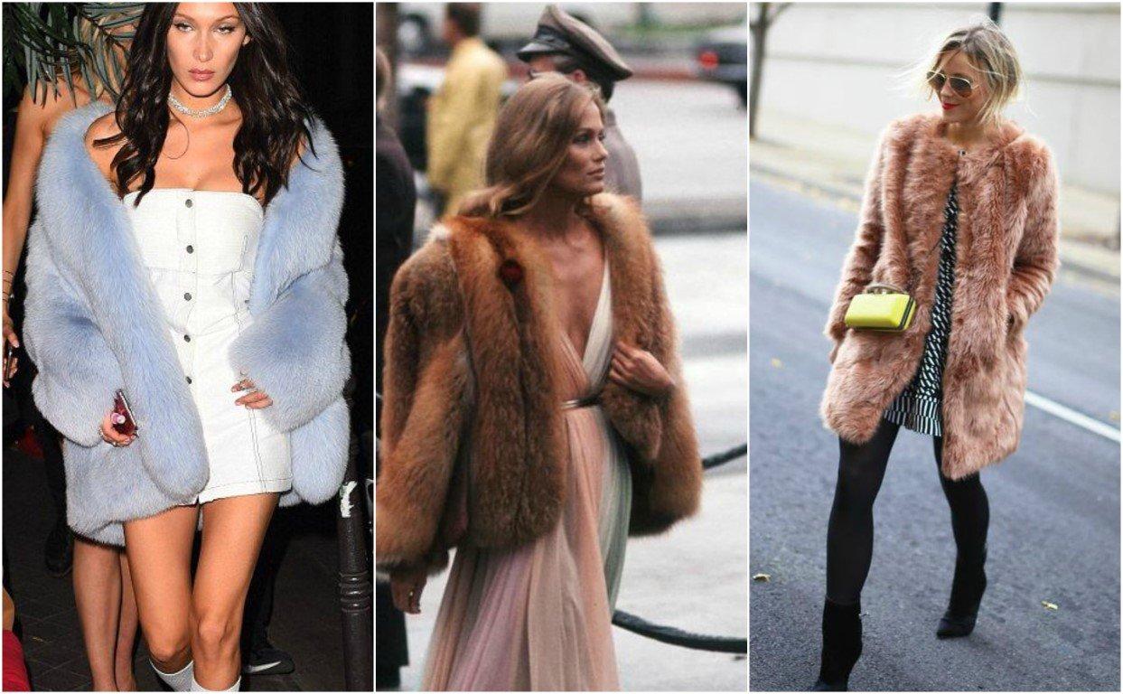 Διάλεξε τσόχινο παλτό με ζώνη ή κοντό γουνάκι για να συνδυάσεις το μακρύ φόρεμα σου