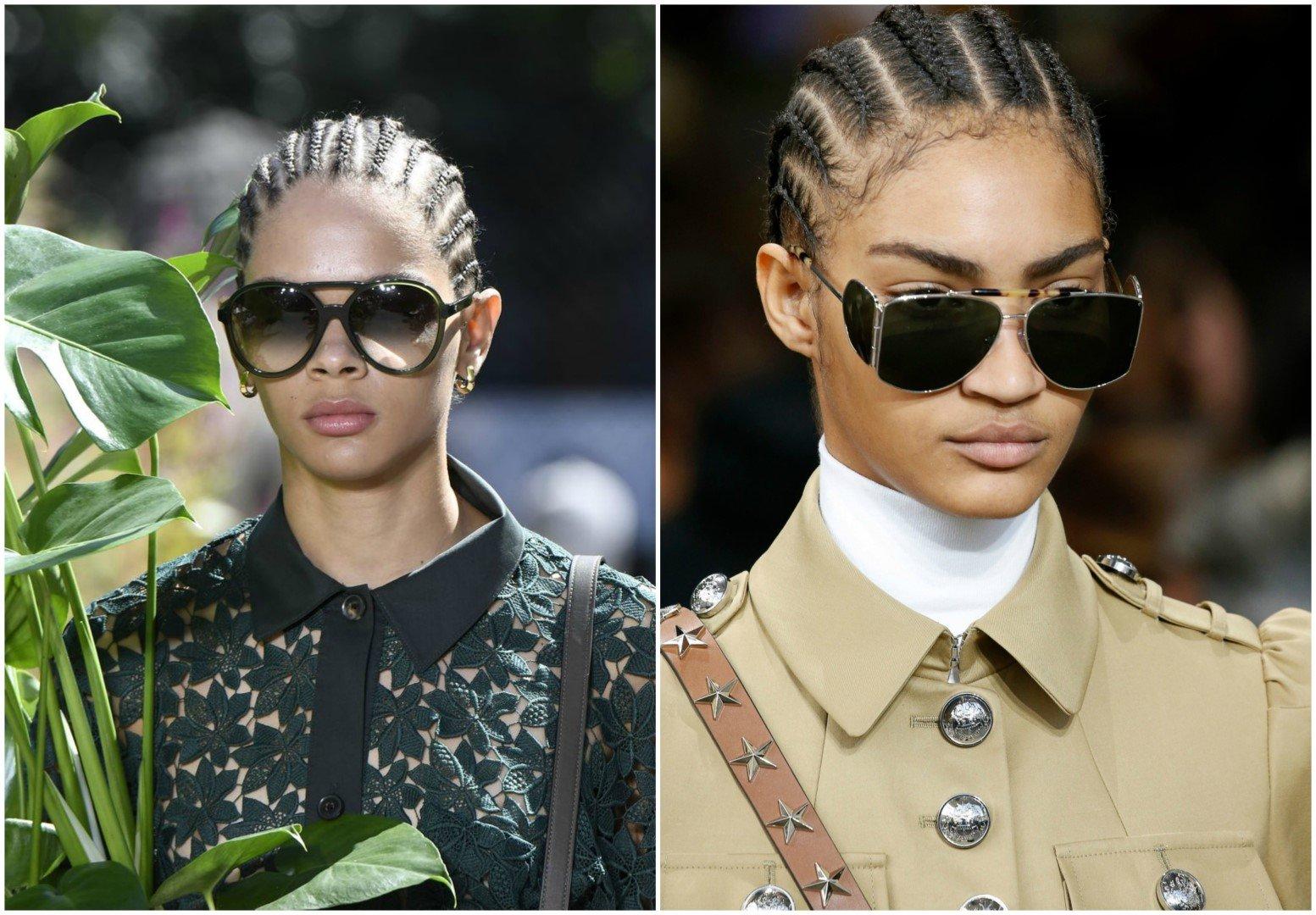 Διαχρονικά γυναικεία γυαλιά ηλίου διπλή γέφυρα