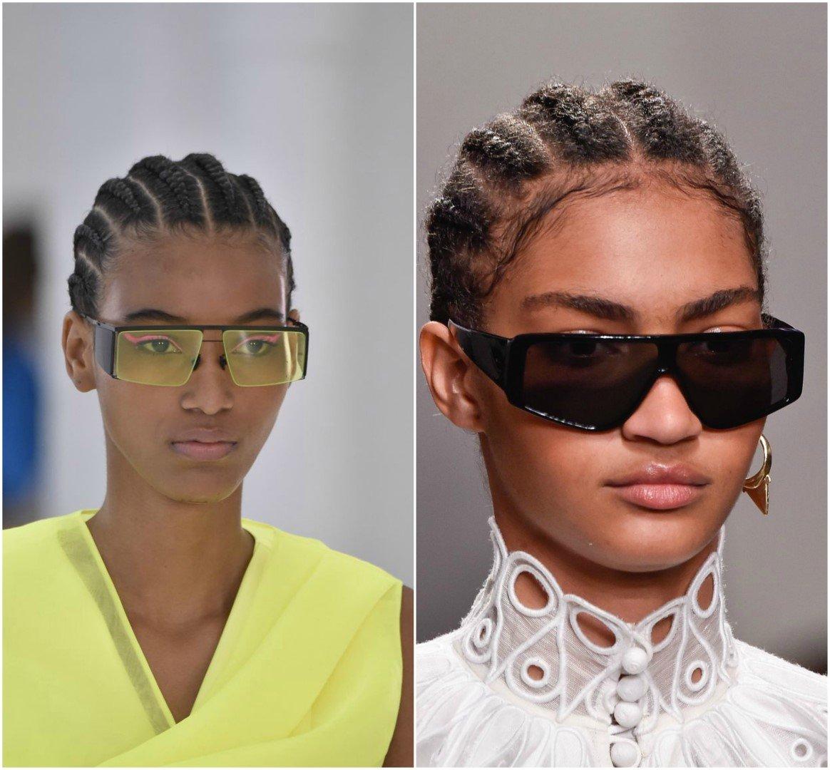 Γυναικεία γυαλιά ηλίου οριζόντια κορυφή άνοιξη