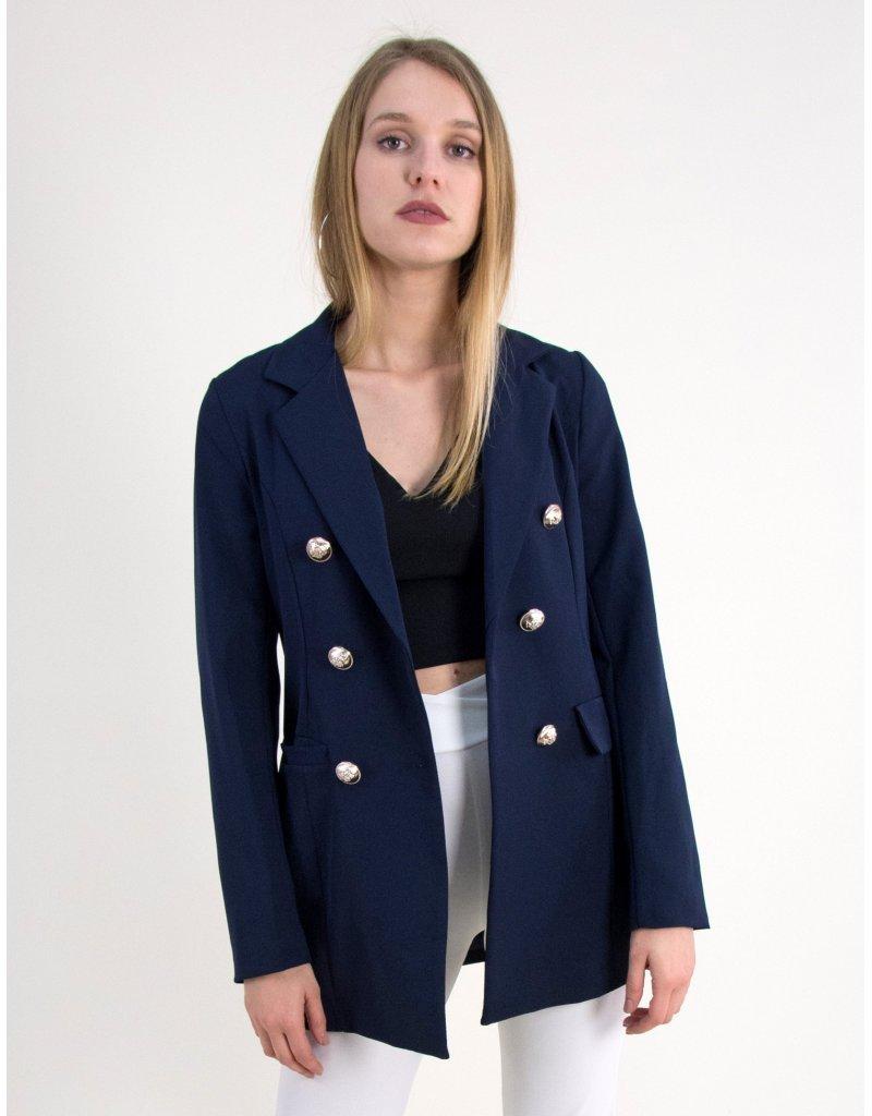 Γυναικειο blazer σακάκι με χρυσά κουμπιά