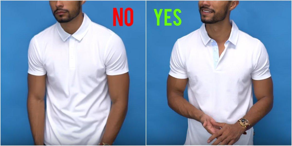 Άνοιξε 1 ή 2 κουμπιά στο πόλο μπλουζάκι σου