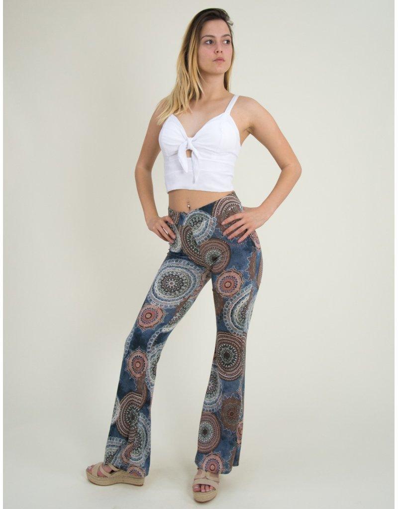 Νουντ υφασμάτινο παντελόνι με καμπάνα