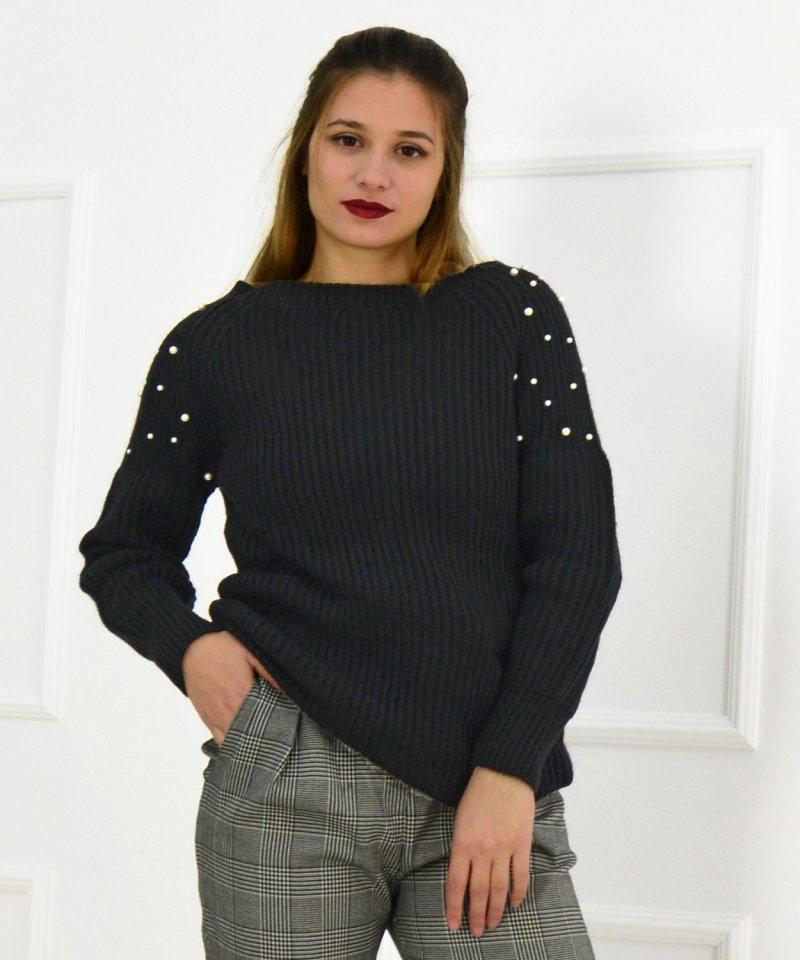 Γυναικείο πουλόβερ με χάντρες