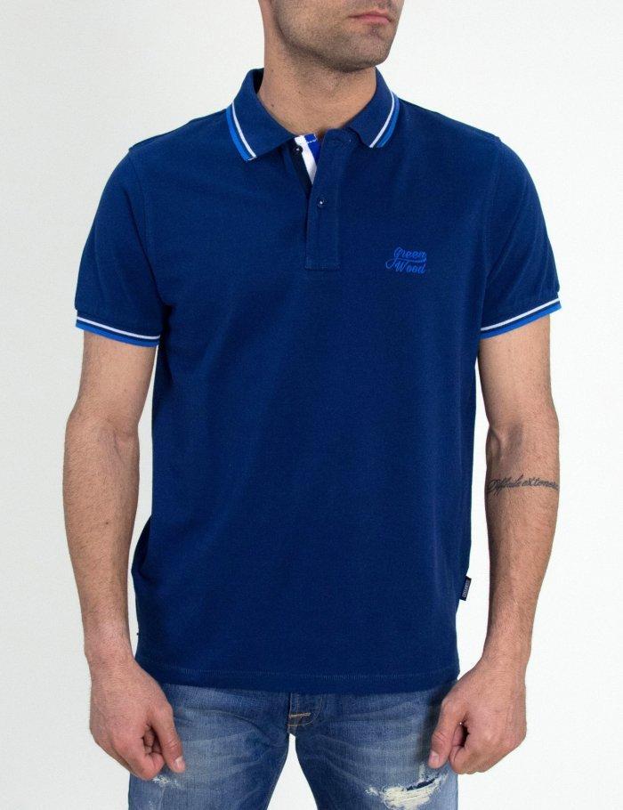 Μπλουζάκι με Πόλο γιακά σε μπλε χρώμα