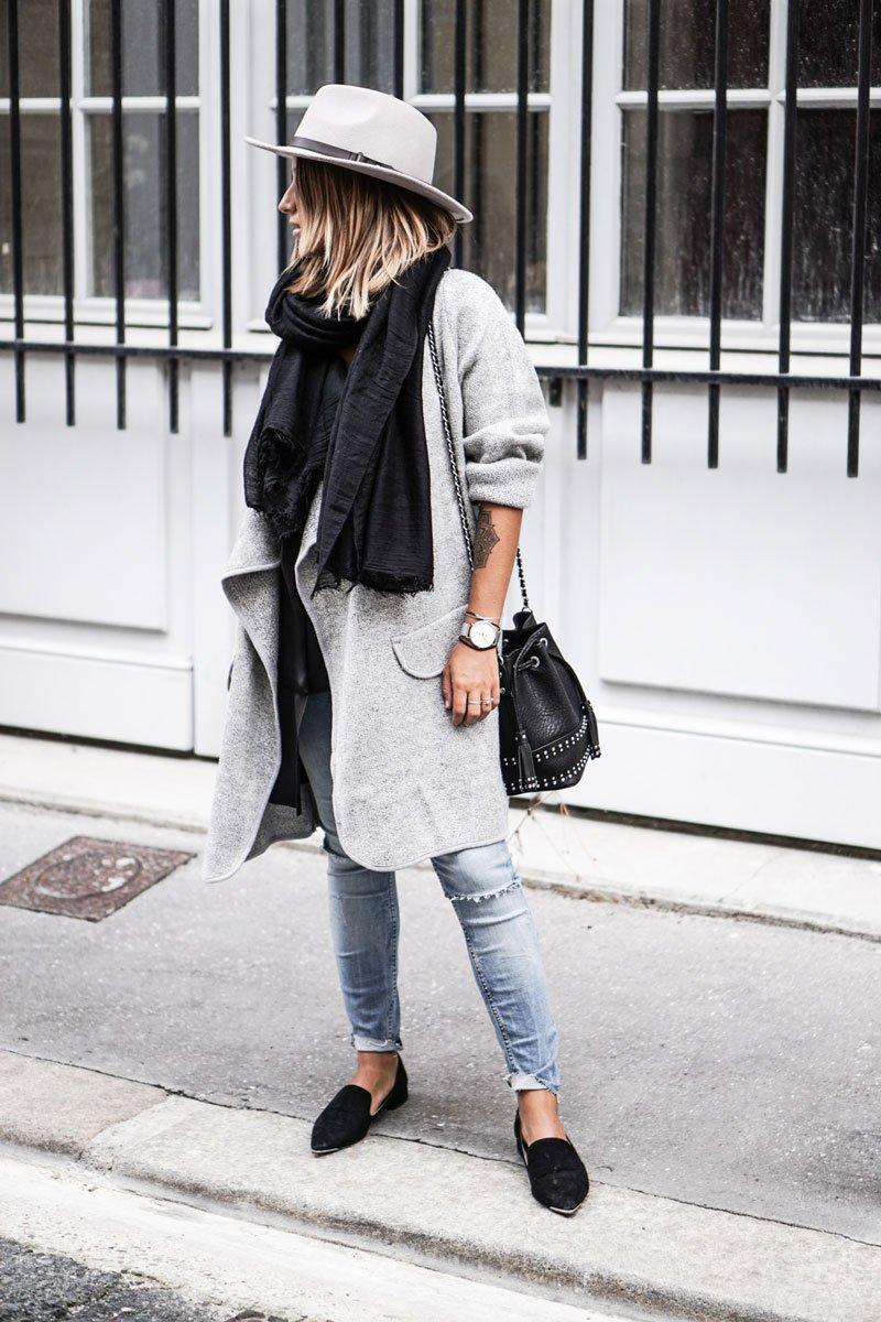 Πλεκτό με παλτό και κασκόλ, ο πιο στυλάτος συνδυασμός!