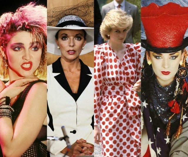 Το γυναικείο ντύσιμο στην punk εποχή και στα 80's, Madonna, Boy George και πριγκιπισσα Νταιάννα