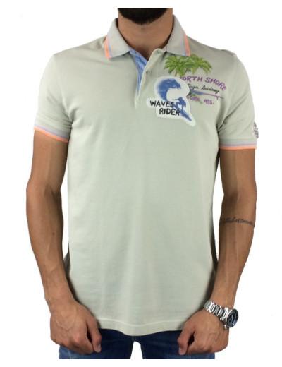 Μπλούζα Polo Tortuga Academy OR11-35284 (Μπεζ)