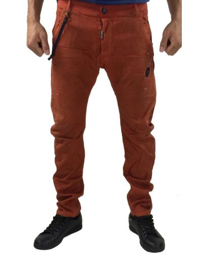 Cosi υφασμάτινο παντελόνι 46-BENTLEY 8 (Κεραμιδί)