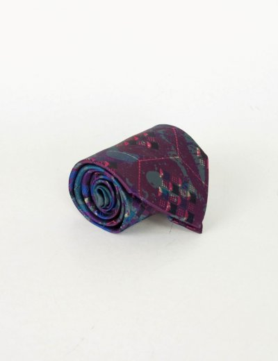Γραβάτα μώβ πολύχρωμη 18858