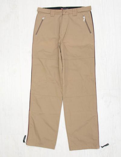 Ανδρικό μπεζ υφασμάτινο παντελόνι με ρίγα 4630F
