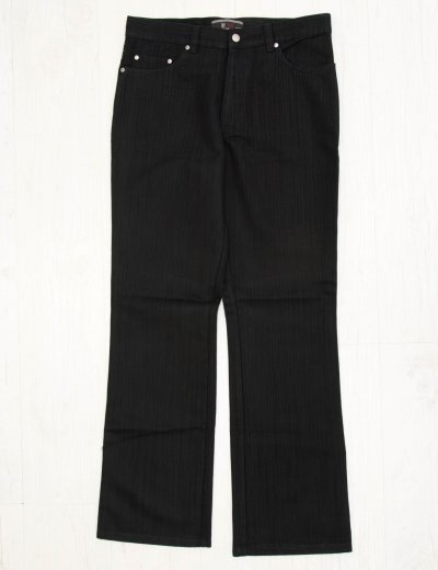 Aνδρικό μαύρο υφασμάτινο παντελόνι με λεπτή ρίγα z15D