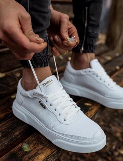 Ανδρικά Λευκά Casual Sneakers δίσολα 2222020B