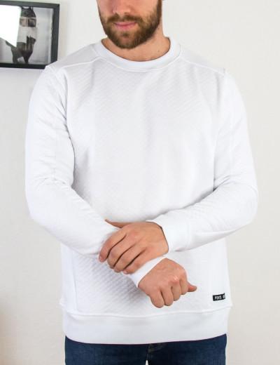Ponte Rosso ανδρικό λευκό φούτερ καπιτονέ 202041