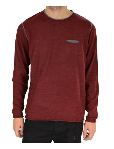 New Look μπορντό πλεκτή μακρυμάνικη μπλούζα 163400B