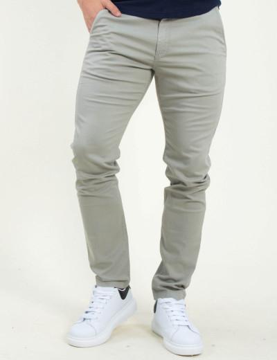 Ανδρικό γκρι υφασμάτινο Chinos παντελόνι Lee L768LV64