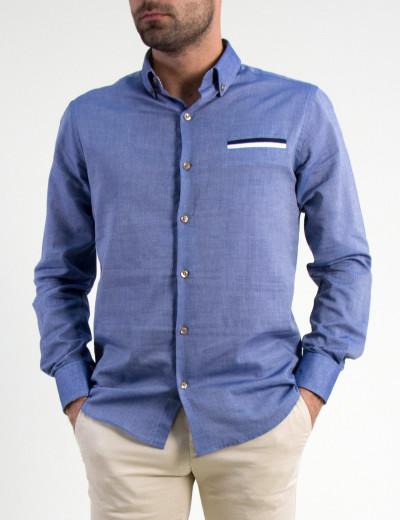 Ανδρικό πουκάμισο Gio.S σιέλ 903718