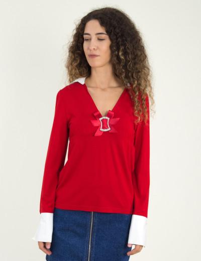 Γυναικεία μπλούζα κόκκινη 345034
