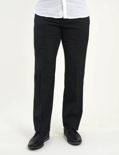 Ανδρικό μαύρο υφασμάτινο παντελόνι 404111