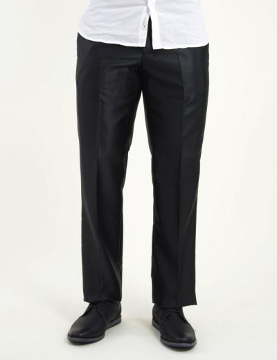 Ανδρικό μαύρο υφασμάτινο παντελόνι γυαλιστερό 5501000