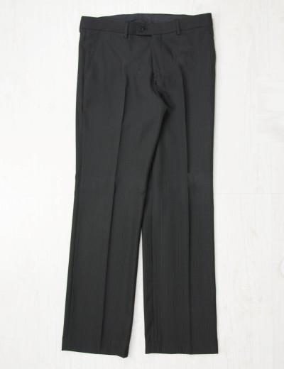Ανδρικό μαύρο υφασμάτινο παντελόνι ρίγες 400999
