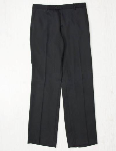 Ανδρικό μαύρο υφασμάτινο παντελόνι ρίγες 03345222