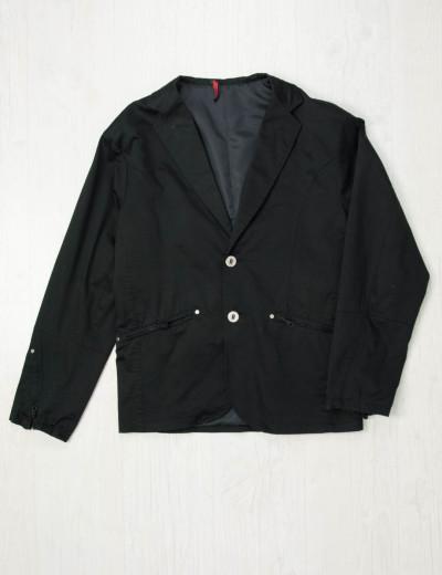 Ανδρικό μαύρο μονόχρωμο σακάκι 30666