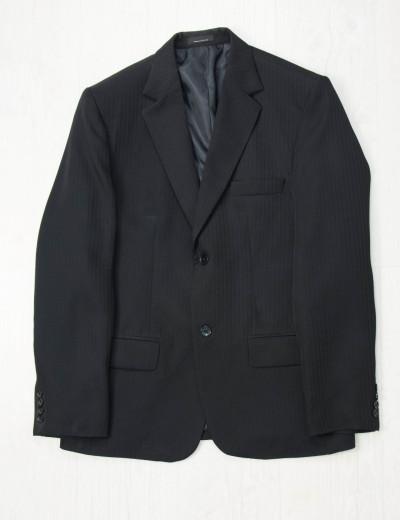 Ανδρικό μαύρο σακάκι με ρίγες μαύρες 033452