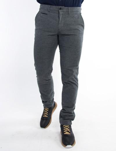 Ανδρικό γκρι υφασμάτινο παντελόνι chinos τσέπες Trial 19B BEN