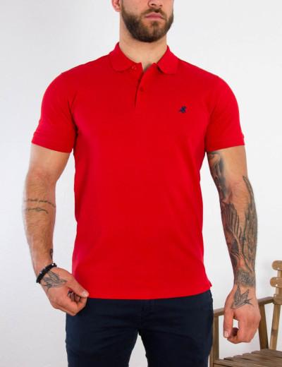 US Grant Polo Ανδρική κόκκινη πόλο κοντομάνικη μπλούζα USP060A