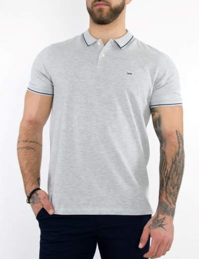 Lee Pique Polo ανδρικό μπλουζάκι γκρι L61ARL03