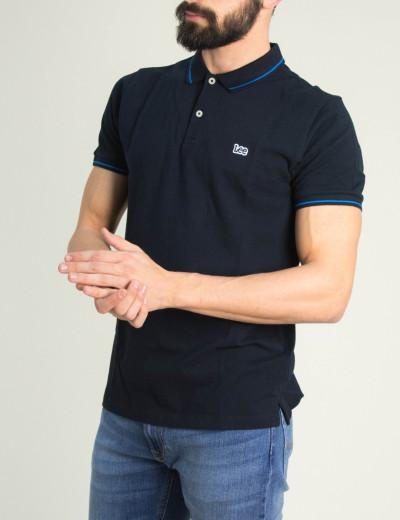 Ανδρική μαύρη Polo κοντομάνικη μπλούζα Lee L61ARL01
