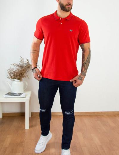 Lee ανδρικό κεραμιδί Polo μπλουζάκι Pique L61ARLQM