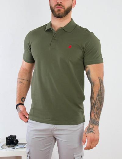 US Grant Polo Ανδρική χακί πόλο κοντομάνικη μπλούζα USP060C