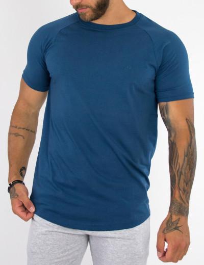 Everbest μπλε μονόχρωμο Tshirt RS19210