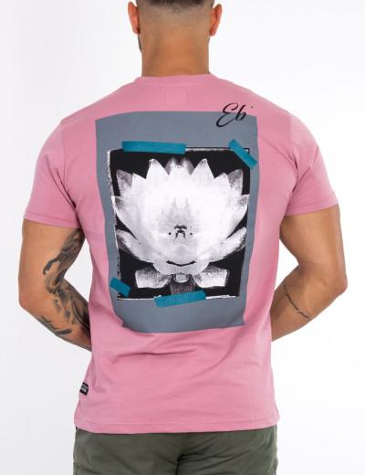 Ανδρικό ροζ Tshirt με τύπωμα στην πλάτη 20912