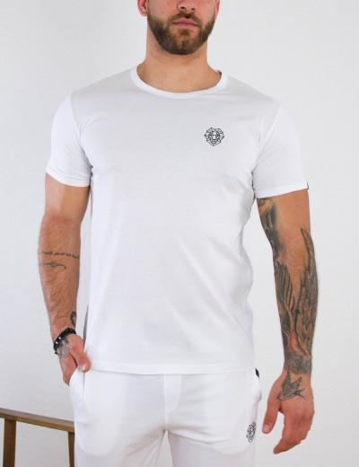 Ανδρικό λευκό βαμβακερό T-shirt με σχέδιο Martini 70677