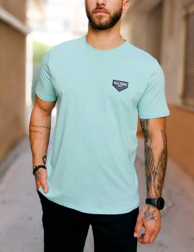Ανδρικό γαλάζιο βαμβακερό Tshirt τύπωμα Ben Tailor 5142