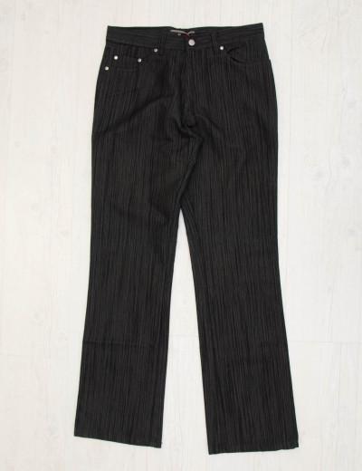 Aνδρικό γκρι υφασμάτινο παντελόνι με λεπτή ρίγα z15