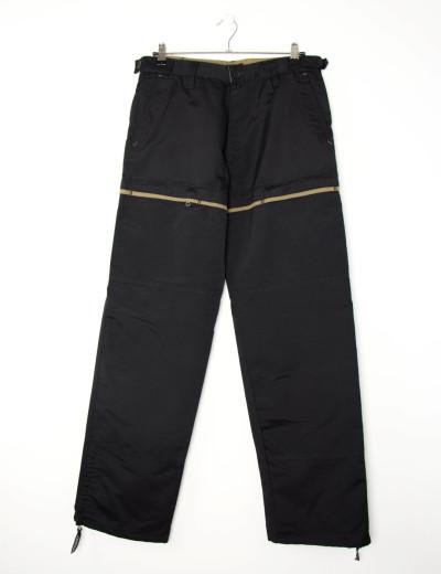 Aνδρικό μαύρο υφασμάτινο παντελόνι 4623