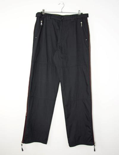 Ανδρικό μαύρο υφασμάτινο παντελόνι με ρίγα 4630D